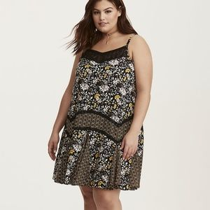 Torrid | 2 | Mixed Floral Challis Dress